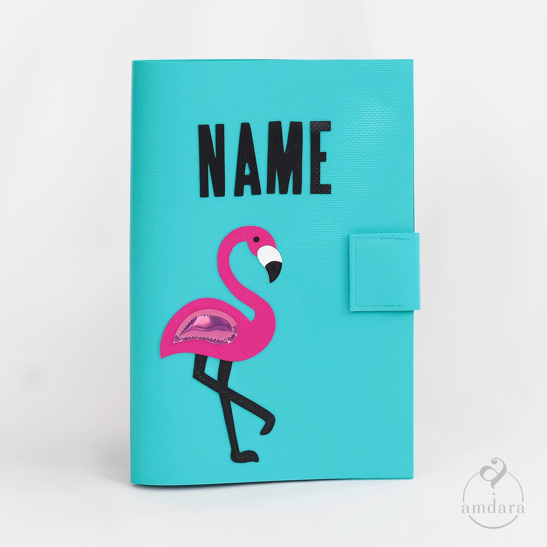 Gesundheitshefthülle / Hülle fürs Gesundheitsheft aus Blache Flamingo