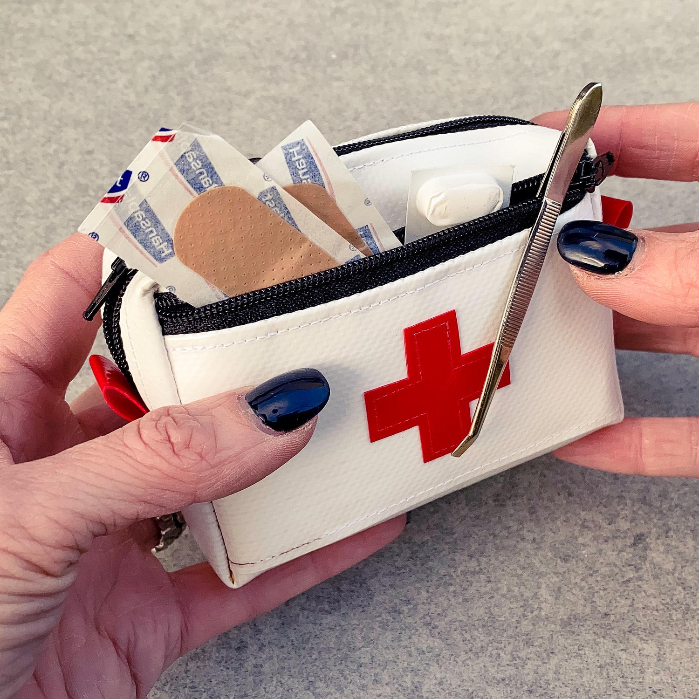 Apotheke XS, Notfalltäschchen mini aus Blache
