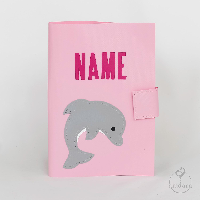 Gesundheitshefthülle / Hülle fürs Gesundheitsheft aus Blache Delfin
