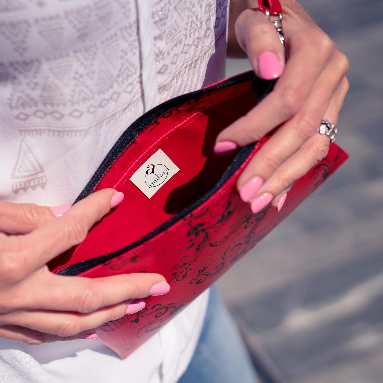 Kleine Tasche/ Handtasche/ Umhängetasche/ Corssbody Tasche aus Blache von amdara