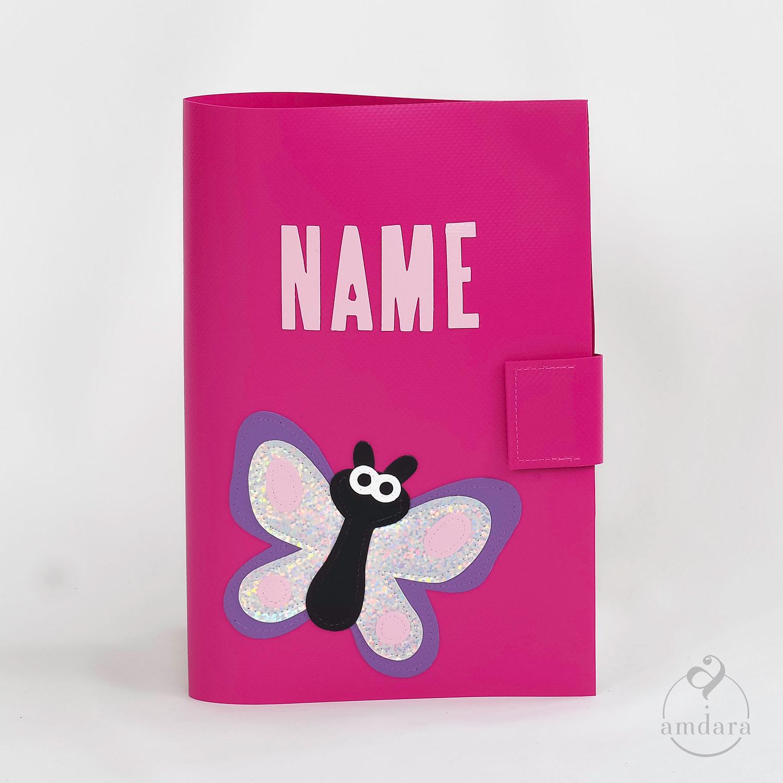 Gesundheitshefthülle / Hülle fürs Gesundheitsheft aus Blache Schmetterling