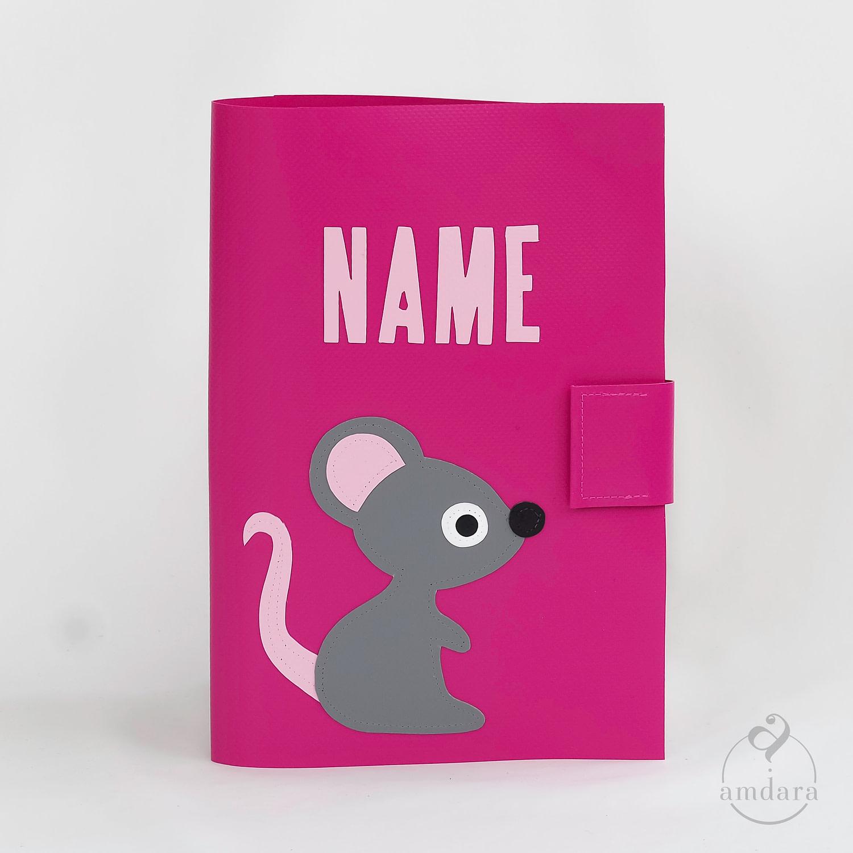 Gesundheitshefthülle / Hülle fürs Gesundheitsheft aus Blache Maus