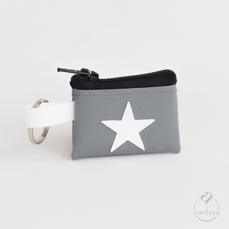 Münzanhänger mini, Mini Portmonee aus Blache, Stern