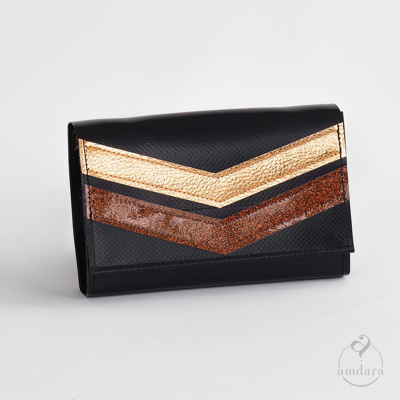 Mittelgrosses Portmonee mit vielen Fächern, Portemonnaie aus Blache
